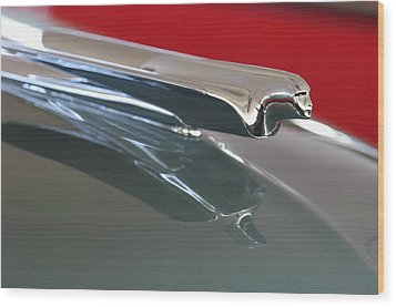 1948 Cadillac Series 62 Hood Ornament Wood Print by Jill Reger