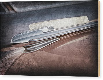 Wood Print featuring the photograph 1948 Chevrolet Hood Ornament -0587ac by Jill Reger