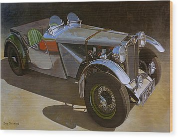 1948 M G  Racer Wood Print by Doug Strickland