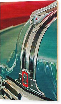 1948 Pontiac Streamliner Woody Wagon Hood Ornament Wood Print by Jill Reger