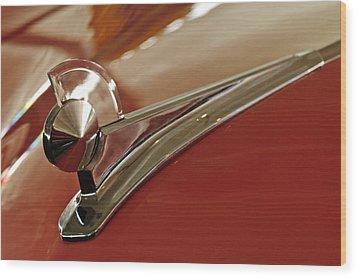 1949 Ford Custom Hood Ornament Wood Print by Jill Reger