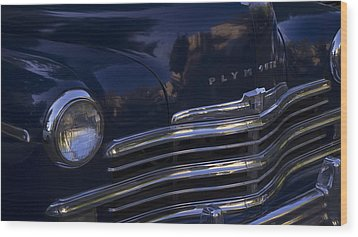 1949 Plymouth Deluxe  Wood Print by Cathy Anderson
