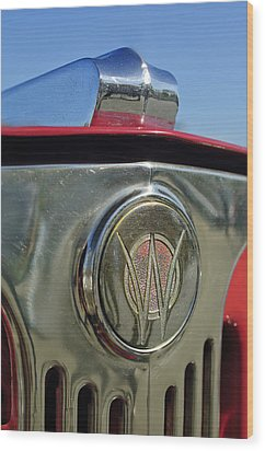 1949 Willys Jeepster Hood Ornament Wood Print by Jill Reger