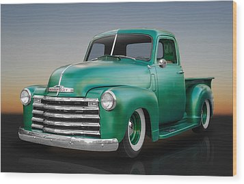 1950 Chevy Pickup Truck Wood Print