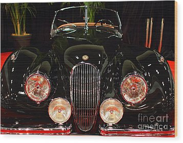 1950 Jaguar Xk120 Alloy Roadster . 7d9179 Wood Print by Wingsdomain Art and Photography