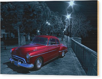 1950 Olds Ninety-eight Wood Print by Michael Cleere