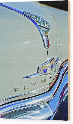 1950 Plymouth Coupe Hood Ornament Wood Print by Jill Reger