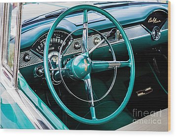 Wood Print featuring the photograph 1955 Chevrolet Bel Air by M G Whittingham