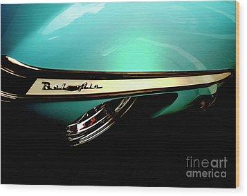 1950s Chevy Bel Air Wood Print by Steven Digman