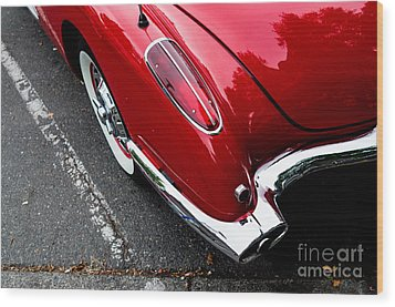 Wood Print featuring the photograph 1959 Corvette by M G Whittingham