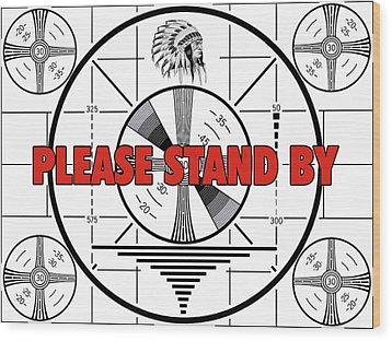 1950's Tv Test Pattern Wood Print by Walt Foegelle
