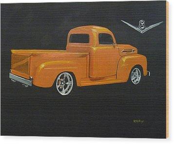 1952 Ford Pickup Custom Wood Print