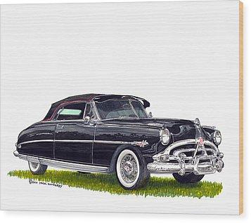 1952 Hudson Hornet Convertible Wood Print by Jack Pumphrey