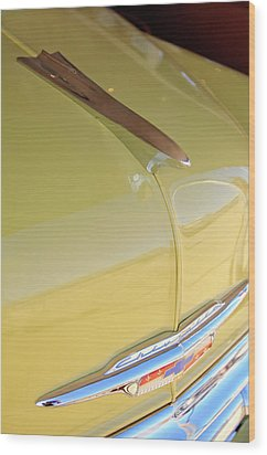 1953 Chevrolet Bel Air Hood Ornament Wood Print by Jill Reger