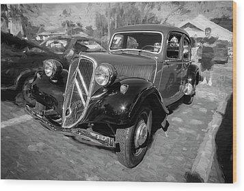 1953 Citroen Traction Avant Bw Wood Print by Rich Franco