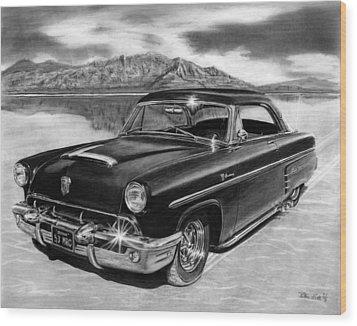 1953 Mercury Monterey On Bonneville Wood Print