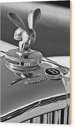 1954 Bentley One Of A Kind Hood Ornament 2 Wood Print by Jill Reger