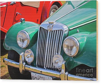 Wood Print featuring the photograph 1954 Mg Tf Sports Car by Chris Dutton