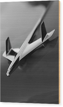 1955 Chevrolet Belair Hood Ornament 2 Wood Print by Jill Reger