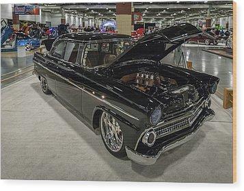 1955 Ford Customline Wood Print by Randy Scherkenbach