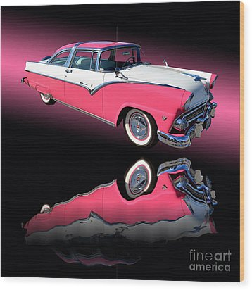 1955 Ford Fairlane Crown Victoria Wood Print by Jim Carrell