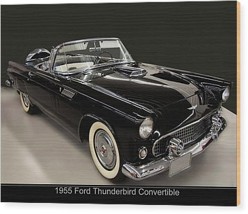 1955 Ford Thunderbird Convertible Wood Print