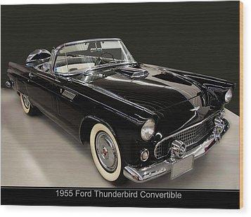 1955 Ford Thunderbird Convertible Wood Print