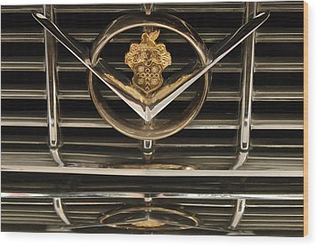 1955 Packard Hood Ornament Emblem Wood Print by Jill Reger