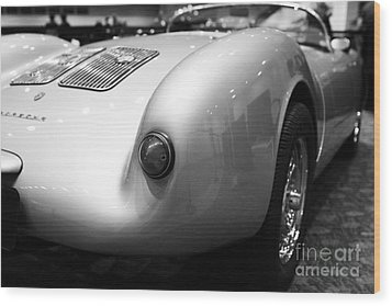 1955 Porsche 550 Rs Spyder . Black And White Photograph . 7d9453 Wood Print by Wingsdomain Art and Photography