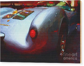 1955 Porsche 550 Rs Spyder . Painterly Style Wood Print by Wingsdomain Art and Photography