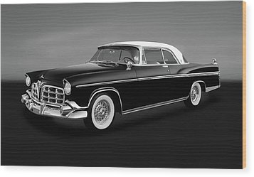Wood Print featuring the photograph 1956 Chrysler Imperial Southampton   -   1956chrysimperialgry170226 by Frank J Benz