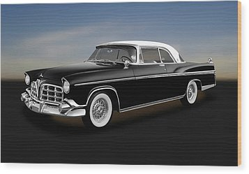 Wood Print featuring the photograph 1956 Chrysler Imperial Southampton   -   1956chryslerimperial170226 by Frank J Benz