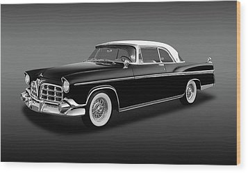 Wood Print featuring the photograph 1956 Chrysler Imperial Southampton   -   1956imperialhardtopfa170226 by Frank J Benz