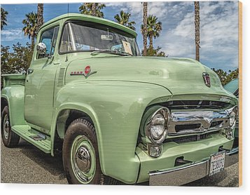 Wood Print featuring the photograph 1956 Ford F-100 Pickup by Steve Benefiel