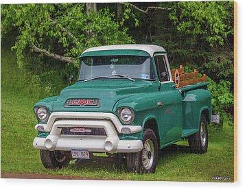 1956 Gmc Pickup Wood Print by Ken Morris