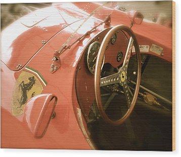 1956 Type Lancia Ferrari D50a Cockpit Wood Print by John Colley