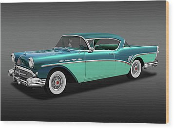 Wood Print featuring the photograph 1957 Buick Super Riviera 2 Door Hardtop  -  1957buicksuprivierafa170431 by Frank J Benz