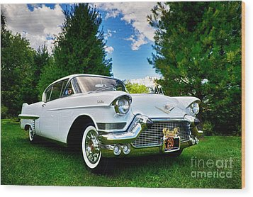 1957 Cadillac Wood Print by Mark Miller