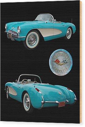 1957 Chevrolet Corvette Wood Print