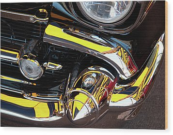 Wood Print featuring the photograph 1957 Chevy by Roger Mullenhour