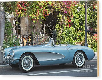 Wood Print featuring the photograph 1957 Corvette by Brian Jannsen