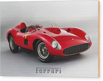 1957 Ferrari 335 S Spider Scaglietti. Wood Print