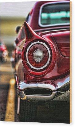 1957 Ford Thunderbird Red Convertible Wood Print by Gordon Dean II