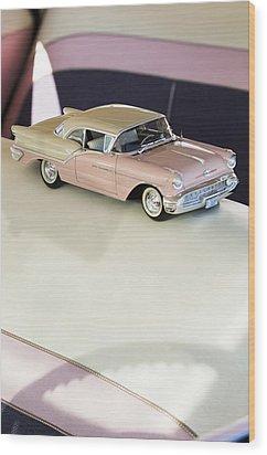 1957 Oldsmobile Super 88 Matchbox Car Wood Print by Jill Reger