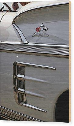 1958 Chevrolet Impala Wood Print by Gordon Dean II