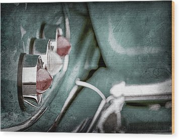 Wood Print featuring the photograph 1958 Chevrolet Impala Taillight -0544ac by Jill Reger
