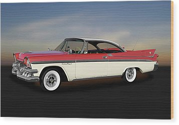Wood Print featuring the photograph 1958 Dodge Custom Royal Lancer Super D-500  -  1958dgeroyalsuperd500170482 by Frank J Benz