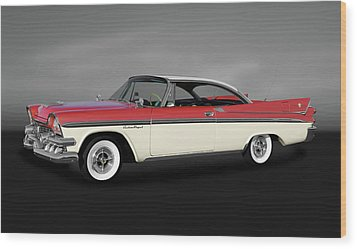 Wood Print featuring the photograph 1958 Dodge Custom Royal Lancer Super D-500  -  1958dodgesuperd500gry170482 by Frank J Benz