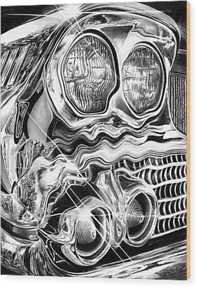 1958 Impala Beauty Within The Beast Wood Print by Peter Piatt