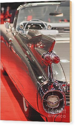 1959 Cadillac Convertible . Wing View Wood Print